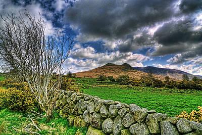 The Hills Mixed Media - The Mournes Stone Walls by Kim Shatwell-Irishphotographer
