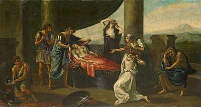 Alexander The Great Painting - The Mourning Of Alexander The Great by Karl Von Piloty