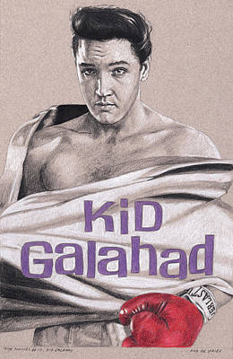 Drawing - The Movies No.10, Kid Galahad by Rob De Vries