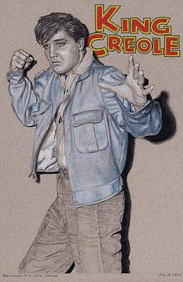 Drawing - The Movies No.4, King Creole by Rob De Vries