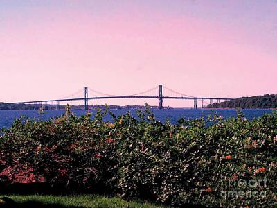Mount Hope Photograph - The Mt Hope Bridge Bristol Rhode Island by Tom Prendergast