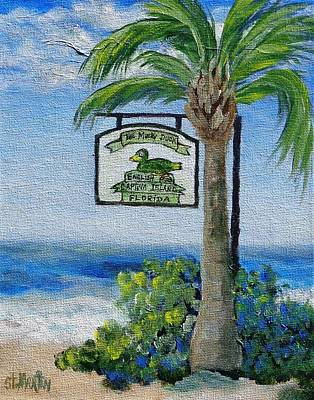Painting - The Mucky Duck Captiva Island Florida by Annie St Martin