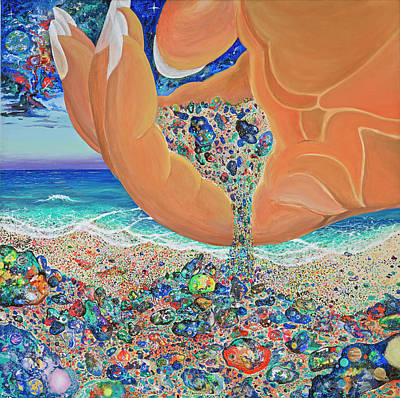 San Clemente Painting - The Multiverses by Marika Segal