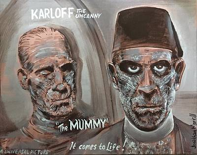 Painting - The Mummy - 1932 Lobby Card That Never Was by Jonathan Morrill