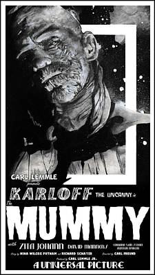 Universal Monsters Mixed Media - The Mummy 1932 Movie Poster  by Sean Parnell