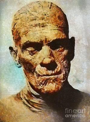 Mummies Painting - The Mummy, Vintage Horror by Mary Bassett