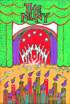 Painting - The Muny Birthday Celebration 2 by Genevieve Esson