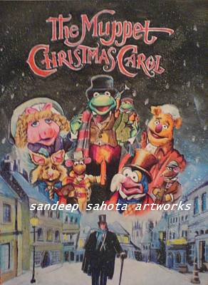 Muslims Of The World Drawing - The Muppet Christmas Carol by Sandeep Kumar Sahota