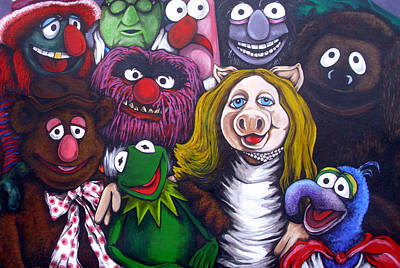 The Muppets Tribute Art Print by Sam Hane
