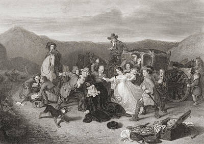 Stagecoach Drawing - The Murder Of Archbishop Sharp. James by Vintage Design Pics