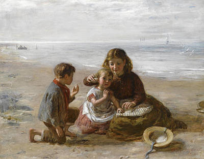 William Mctaggart Painting - The Murmur Of The Shell by William McTaggart
