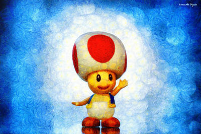 Present Painting - The Mushroom 56 - Pa by Leonardo Digenio