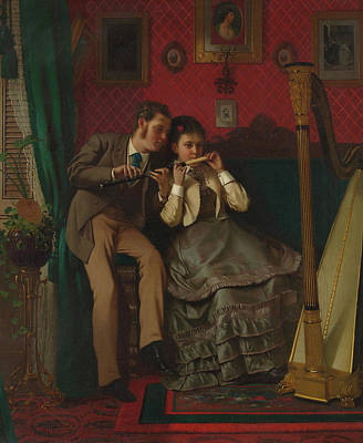Painting - The Music Lesson by John Brown