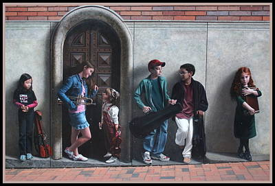 Photograph - The Music Lesson - Public Art Mural by Dora Sofia Caputo Photographic Art and Design