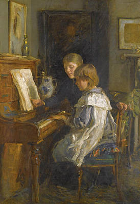 The Music Lesson Painting - The Music Lesson by Walter Frederick Osborne