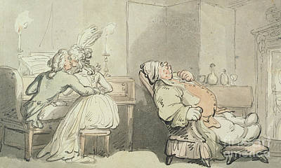 Fun Drawing - The Music Master by Thomas Rowlandson