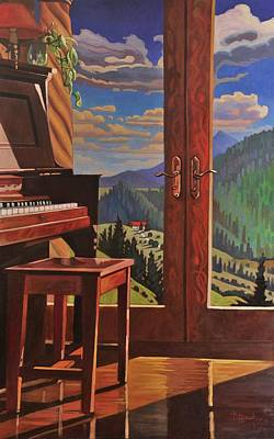 Painting - The Music Room by Art West
