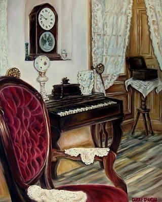 Schubert Painting - The Music Room by Carole Spandau