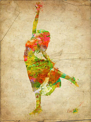 The Music Rushing Through Me Art Print by Nikki Smith
