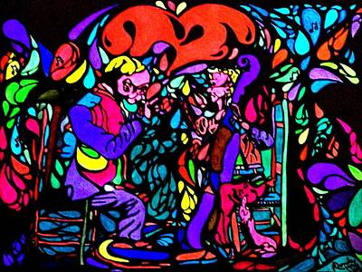 Painting - The Musicians by YoMamaBird Rhonda