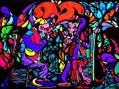 The Musicians Art Print by YoMamaBird Rhonda