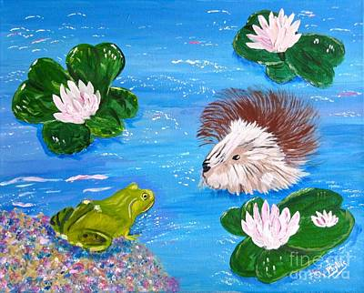 Painting - The Muskrat And The Frog by Phyllis Kaltenbach