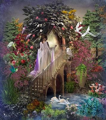 Digital Art - The Mystery Garden by Ali Oppy