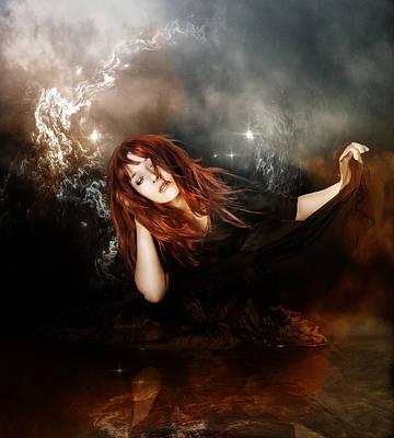 Fantasy Digital Art - The Mystic by Karen Koski