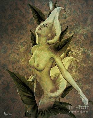 Digital Art - The Naked Calla 2 by Ali Oppy