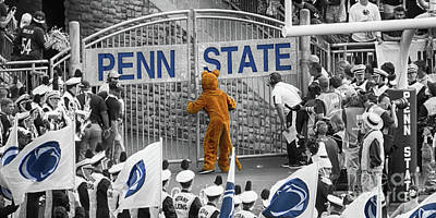 Penn State University Photograph - The Name On The Gate by Tom Gari Gallery-Three-Photography