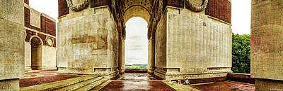 Photograph - The Names Of The Lost At Thiepval - Vintage Version by Weston Westmoreland