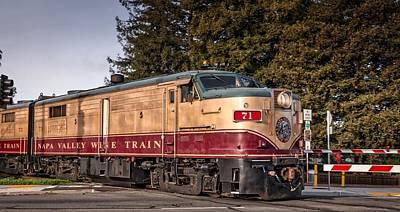 The Napa Valley Wine Train Art Print
