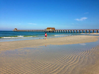 The Naples Pier At Low Tide Art Print