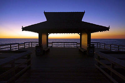 The Naples Pier At Twilight - 02 Art Print