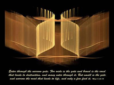 Digital Art - The Narrow Gate by R Thomas Brass