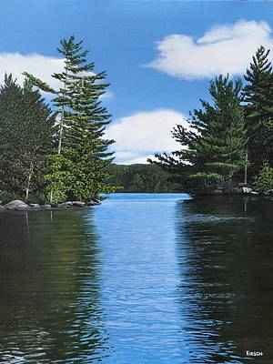 The Narrows Of Muskoka Art Print by Kenneth M  Kirsch