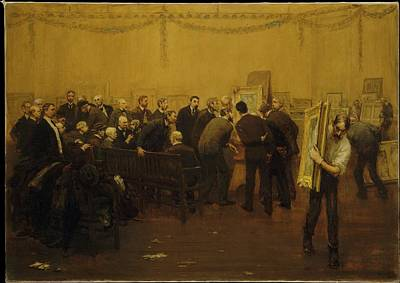 Mora Painting - The National Academy Jury Of 1907 by F Luis Mora