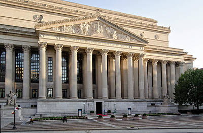 Photograph - The National Archives Building by Greg Mimbs