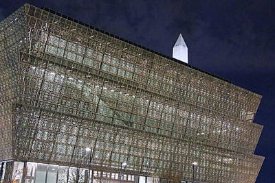 Photograph - The National Museum Of African American History And Culture At Night by Cora Wandel