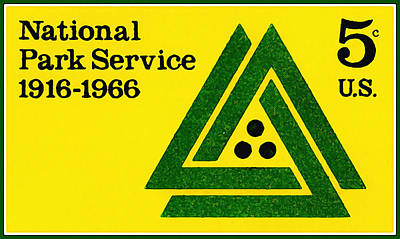 Insignia Painting - The National Park Service Stamp by Lanjee Chee