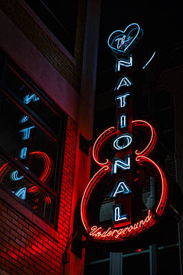 Nashville Sign Photograph - The National Underground by Stephen Stookey