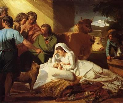 Painting - The Nativity 1777 by Copley John Singleton