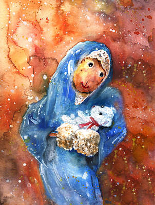 The Nativity According To Mary And Benjamin Butterscotch Original by Miki De Goodaboom