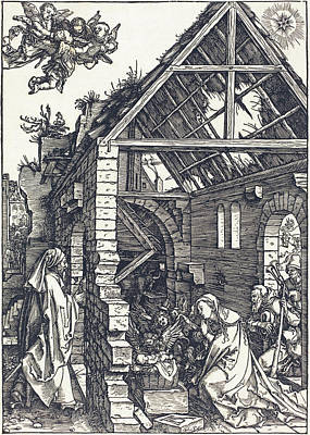 Drawing - The Nativity by Albrecht Durer