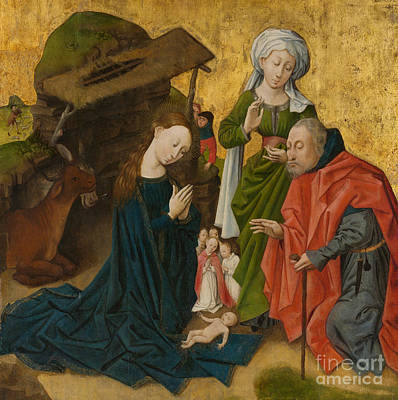 Virgin Mary Painting - The Nativity by Dutch School