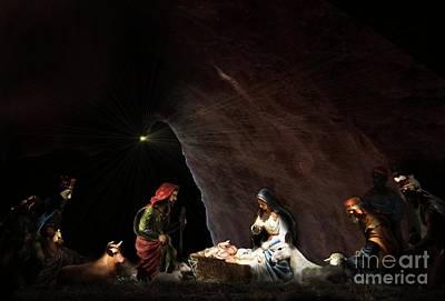 Manger Digital Art - The Nativity by John Swencki