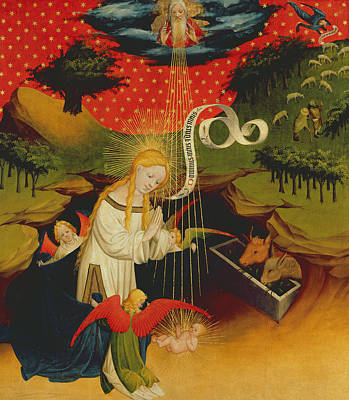 Rays Painting - The Nativity by Master Francke