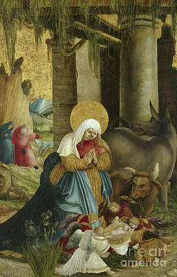 Holy Cow Painting - The Nativity by Master of Pulkau