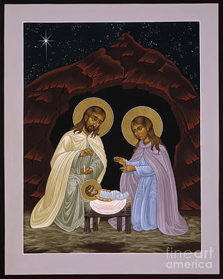 Painting - The Nativity Of Our Lord Jesus Christ 034 by William Hart McNichols