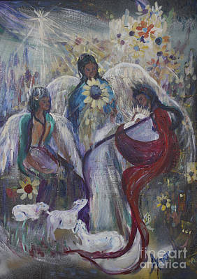 Painting - The Nativity Of The Angels by Avonelle Kelsey